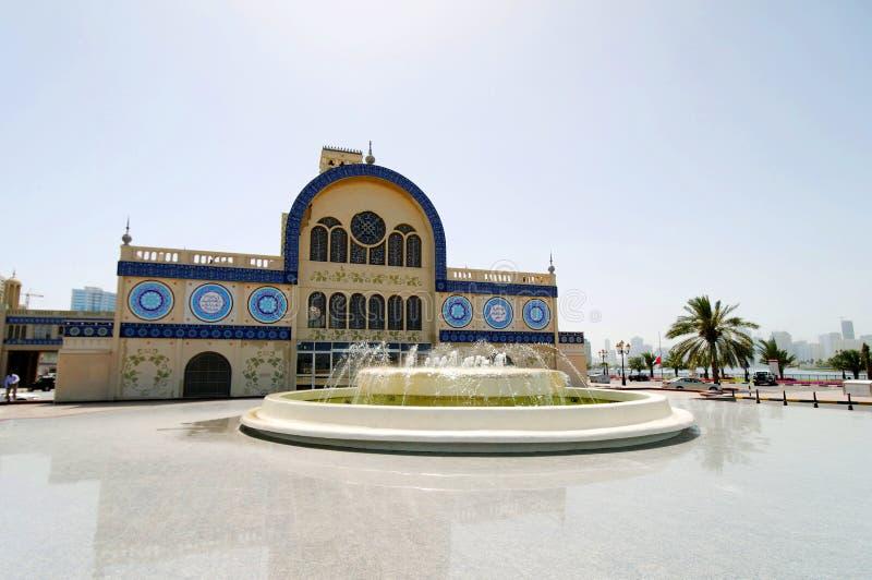 Souk blu in Sharjah fotografia stock
