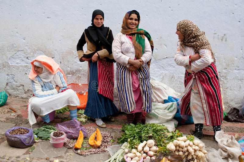 Souk in Chefchaouen, Morocco stock photo