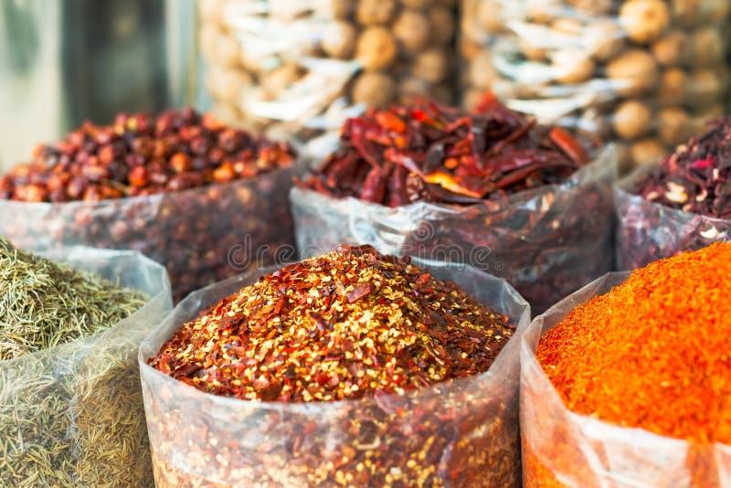 Souk das especiarias e das ervas em Dubai fotografia de stock