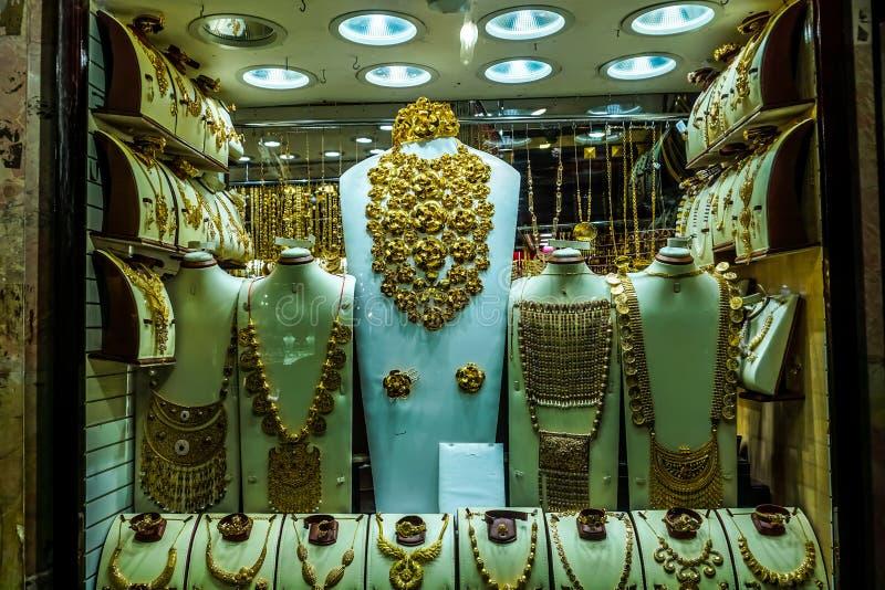 Or Souk de Dubaï photographie stock
