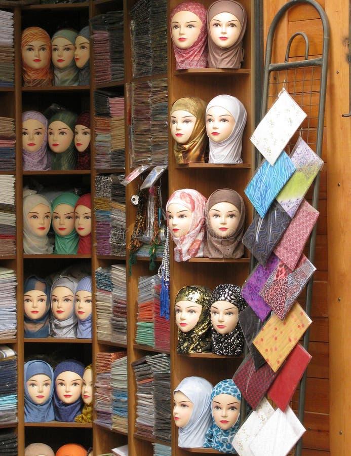 Souk de Hijab image libre de droits