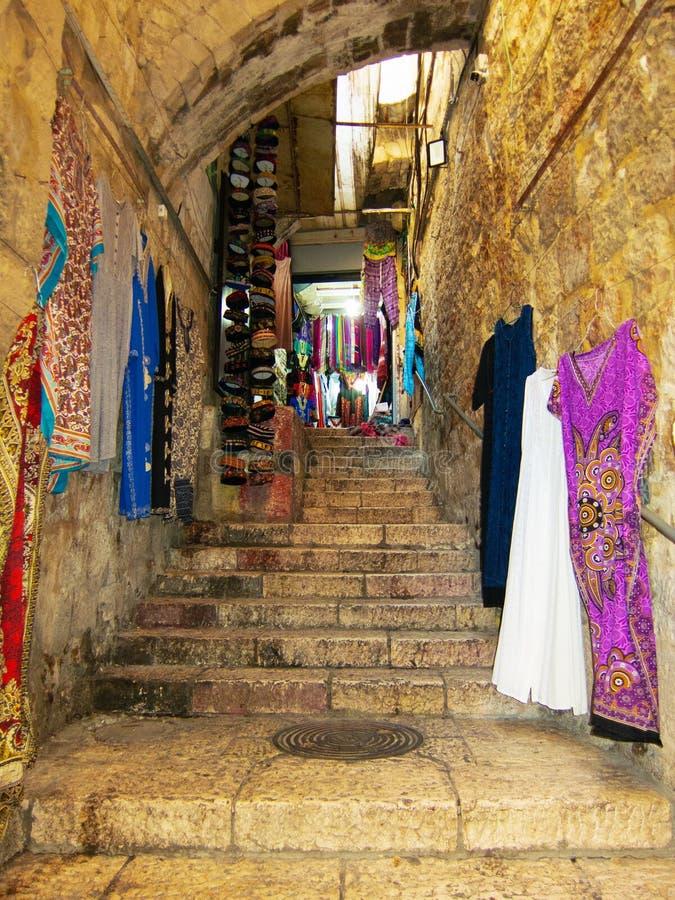 Souk de la vieille ville de Jérusalem image stock