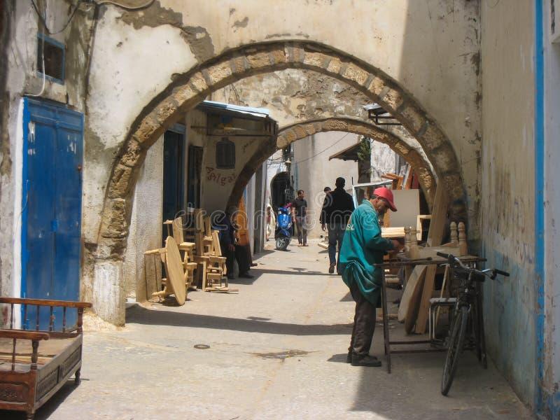 Souk de los carpinteros. Bizerte. Túnez fotos de archivo