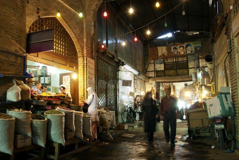 Souk del mercado en Irán esfahan imagen de archivo