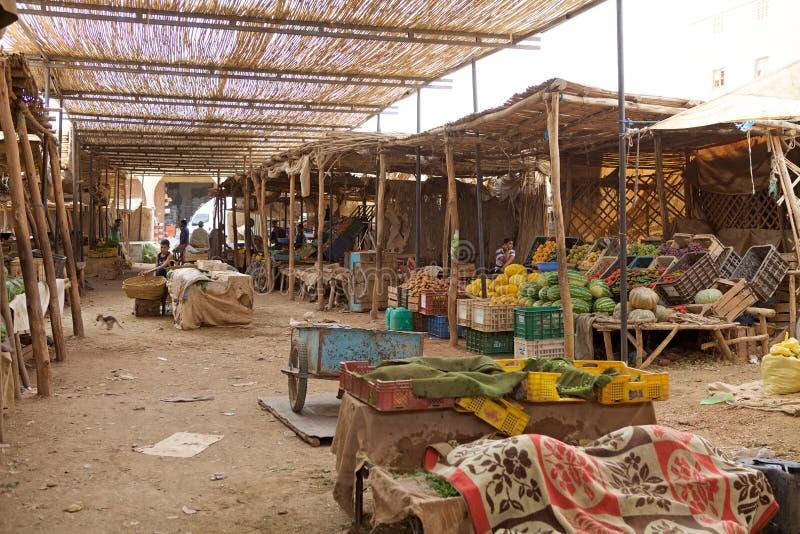 Souk do mercado central de Erfoud foto de stock