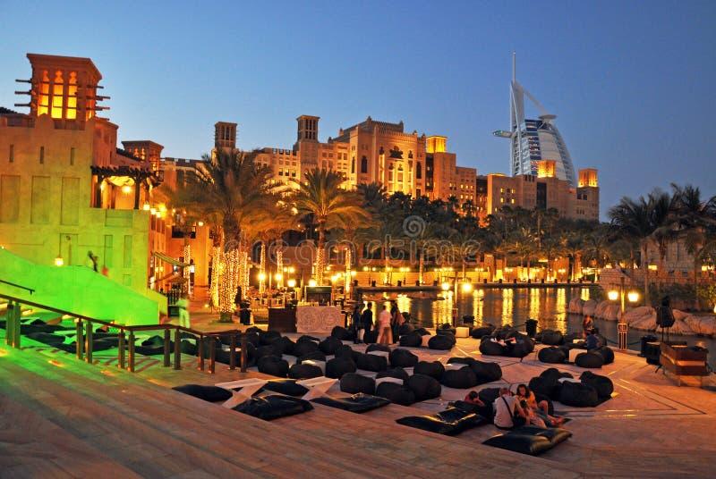 Souk Madinat Jumeirah and Burj Al Arab, Dubai royalty free stock images
