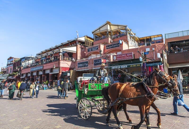 Souk marknad av Marrakech, Marocko royaltyfri bild