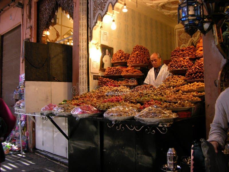 Souk in Marrakech in Marocco royalty-vrije stock afbeeldingen