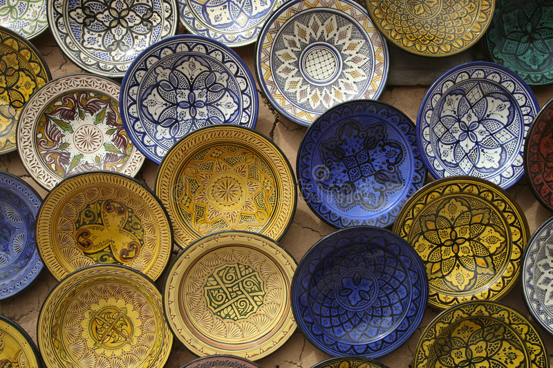 Souk of Marrakesh stock image