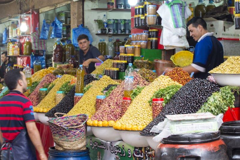 Souk - stadsmarkt in Agadir royalty-vrije stock foto