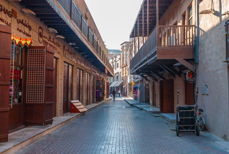 Souk tradicional em Dubai histórico fotos de stock