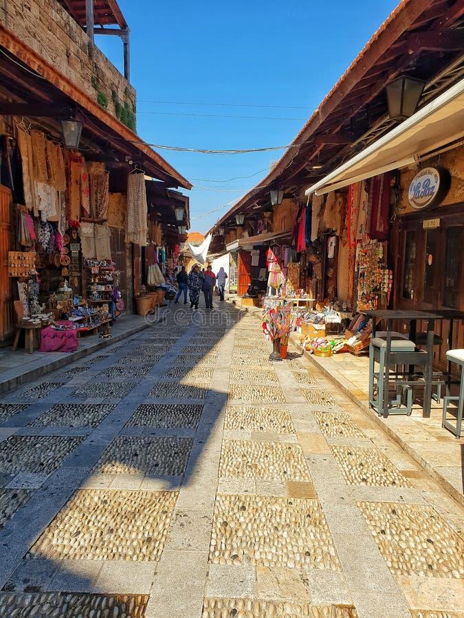 Souk traditional market street in Lebanon Beirut royalty free stock photo