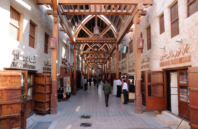 Souk velho em Dubai fotos de stock royalty free