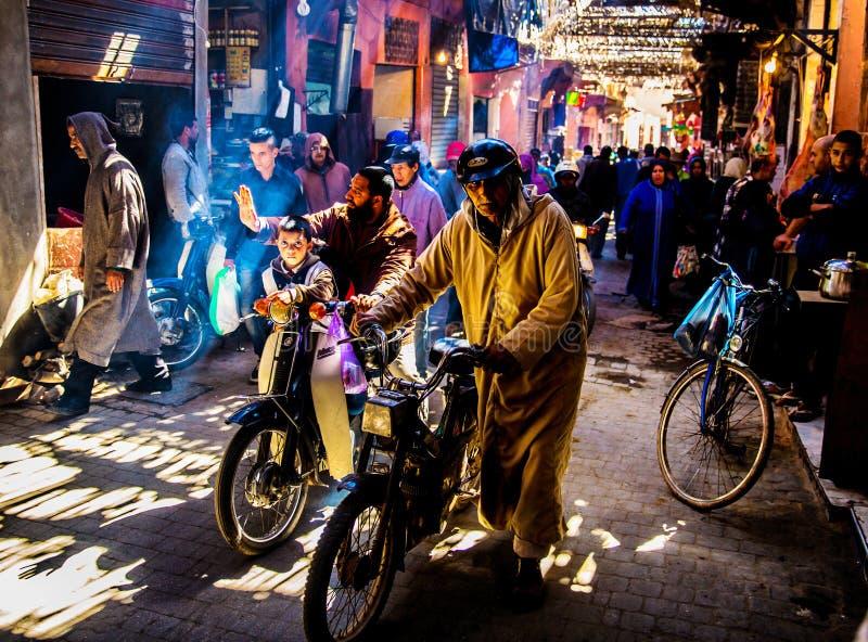 Soukmarkt van Marrakech, Marokko stock afbeeldingen