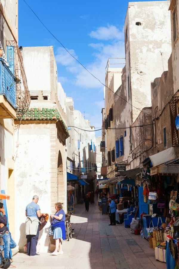 Souks dans Essaouira, Maroc photo libre de droits