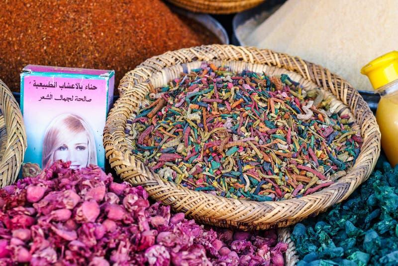 Souks in Marrakech, Marokko, De grootste traditionele markt in Afrika royalty-vrije stock afbeeldingen