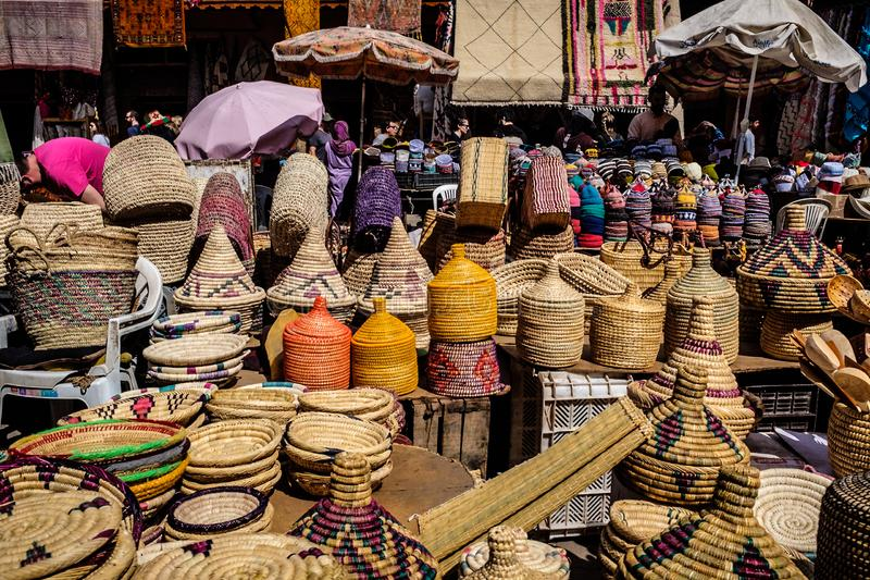Souks and Shopping, Marrakech Morocco stock photography