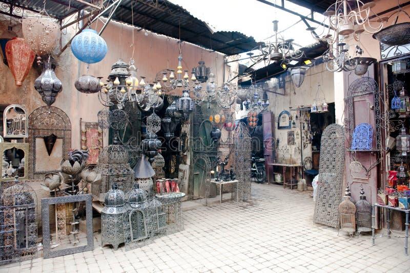 Souks traditionnel Marrakech photo libre de droits