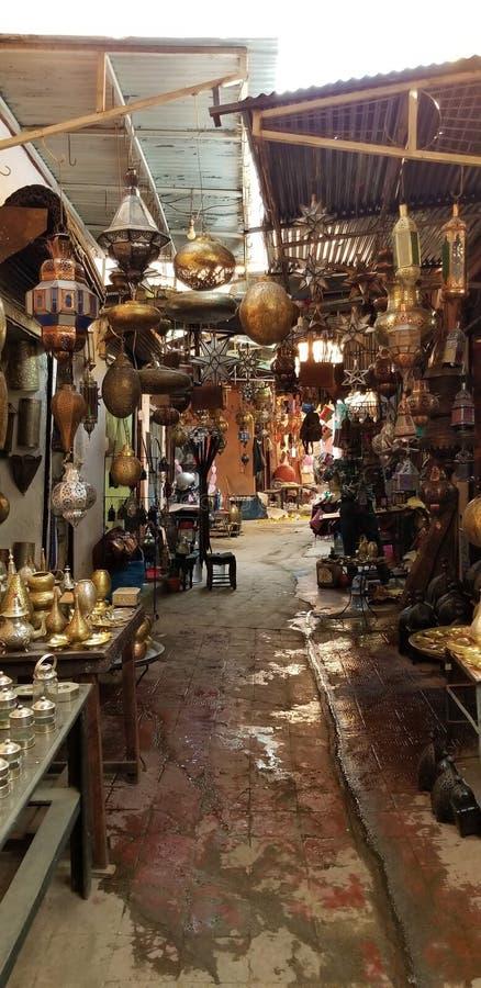 Souks vibrante de Medina Marrakesh imagen de archivo