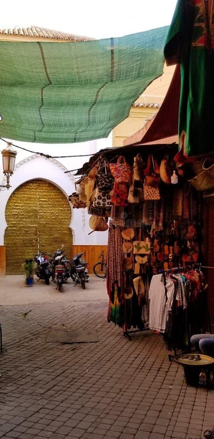 Souks vibrante de Medina Marrakesh imagen de archivo libre de regalías