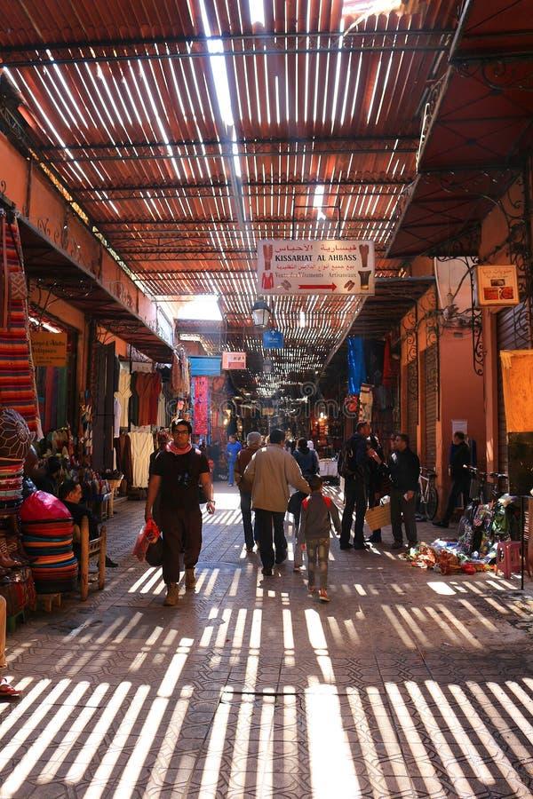 Souks w Marrakech, Maroko fotografia royalty free