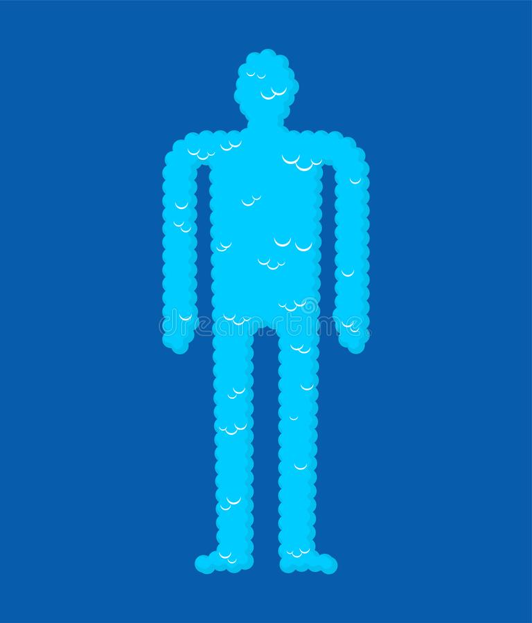 Soul Cloudy body essence. Spirit Vector illustration stock illustration
