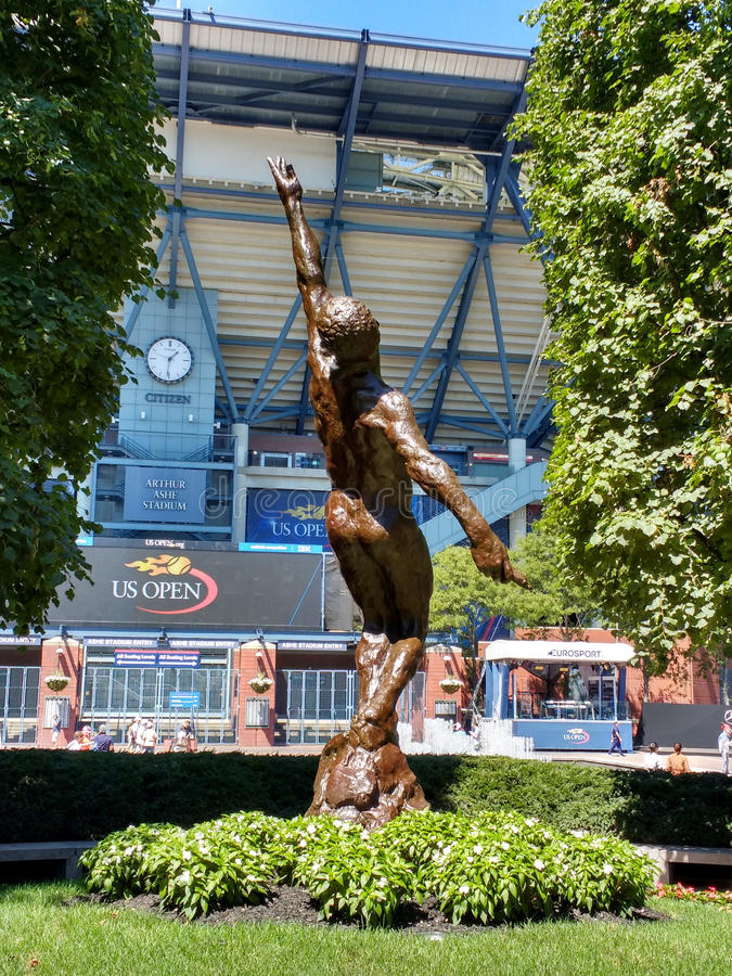 Soul in Flight, Memorial to Arthur Ashe, US Tennis Center, US Open, New York royalty free stock photography