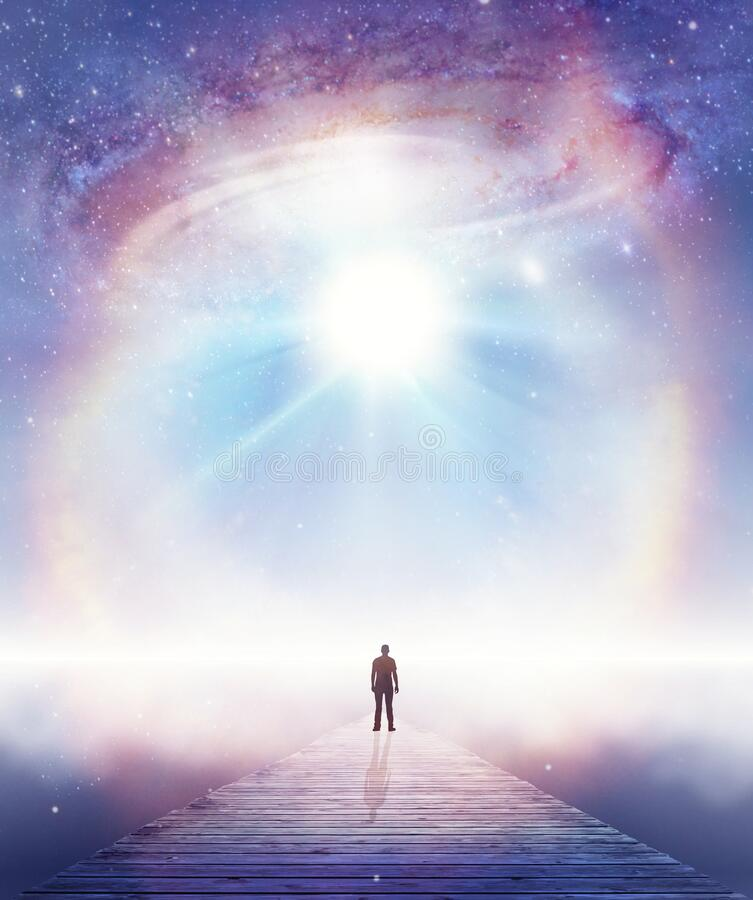 Free Soul Journey, Divine Angelic Guidance, Portal To Another Universe, Light Being, Unity Wallpaper Royalty Free Stock Photography - 190459097