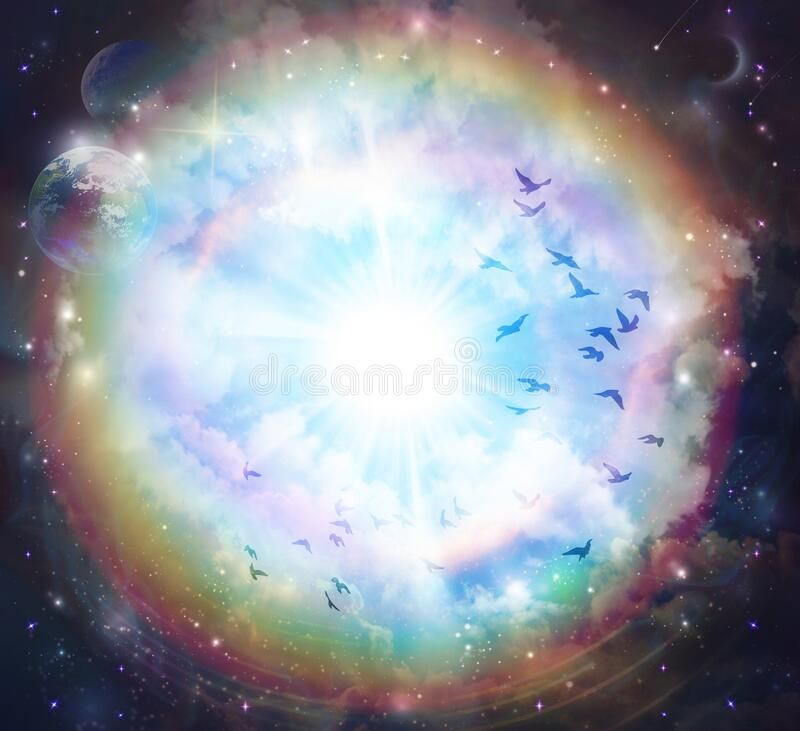 Free Soul Journey, Portal To Another Universe, Heaven, Unity, Afterlife Royalty Free Stock Photography - 210592157