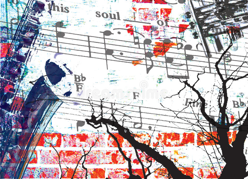 Soul Music. Montage of music images