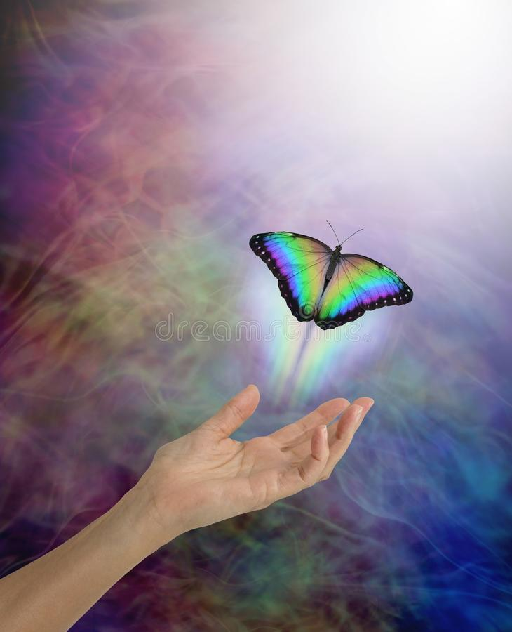 Free Soul Passing Over To The Afterlife Metaphor Royalty Free Stock Image - 109240236