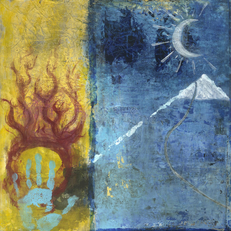 Free Soul Seeker Spiritual Art Painting Royalty Free Stock Photo - 27874465