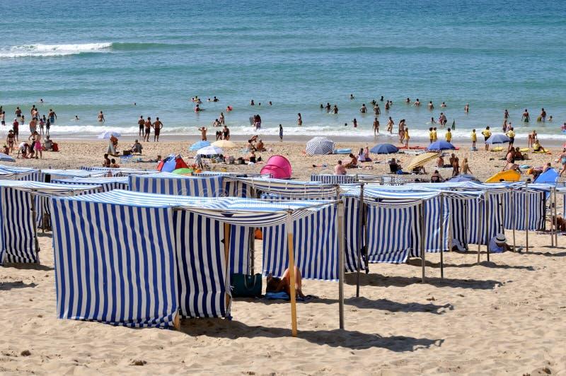Soulac-sur-Mer παραλία, Γαλλία στοκ φωτογραφίες με δικαίωμα ελεύθερης χρήσης