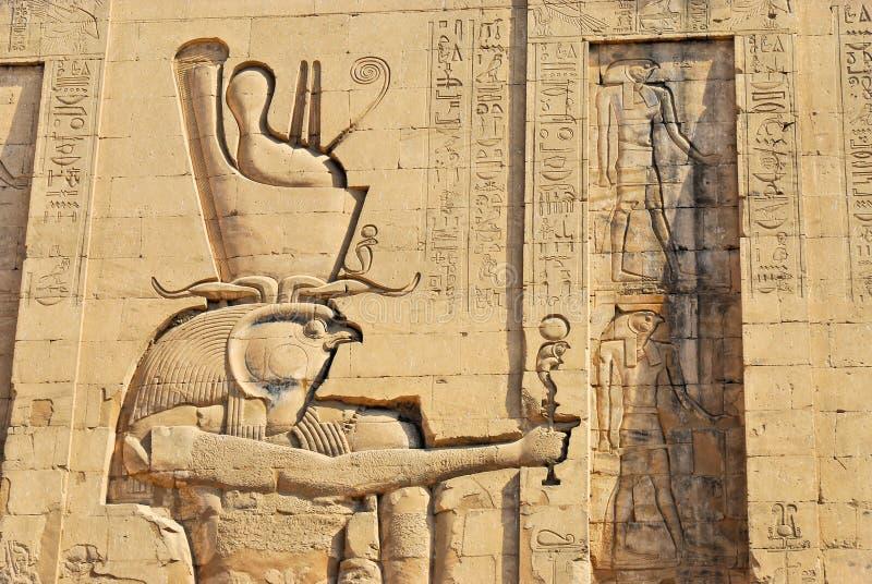 Soulagement au temple d'Edfu en Egypte image libre de droits
