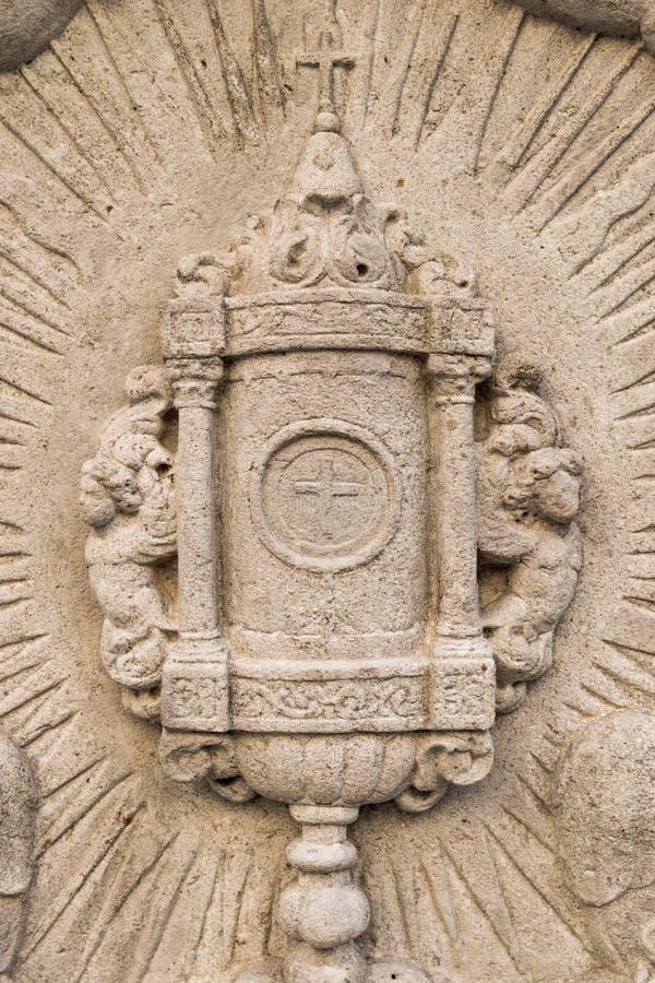 Soulagement d'ostensoir eucharistique photographie stock