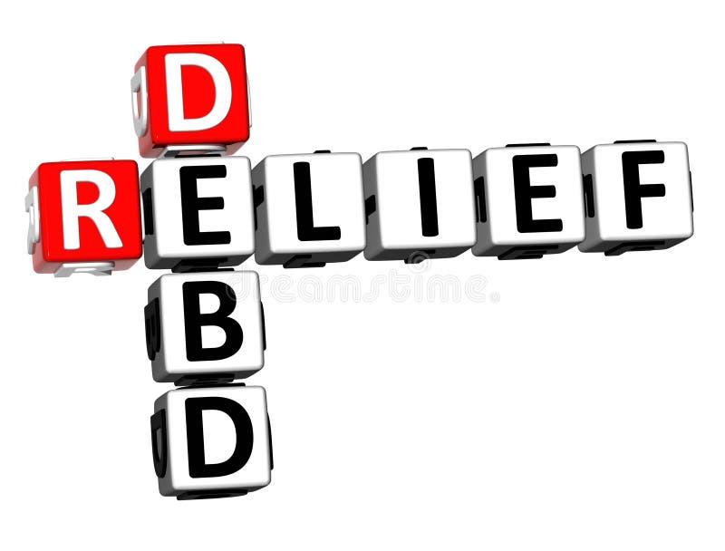 soulagement de mots croisé du rendu 3D Debd Word au-dessus du fond blanc illustration de vecteur
