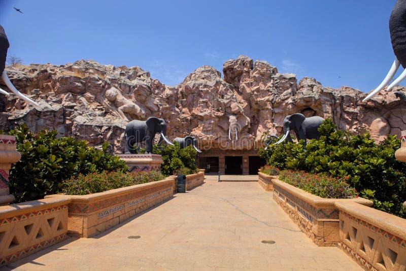 Soulagement de tête d'éléphant africain, Sun City, Afrique du Sud images libres de droits