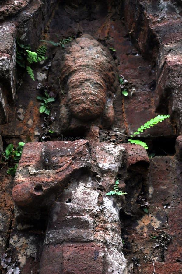 Soulagement des temples hindous à mon fils, Vietnam image stock