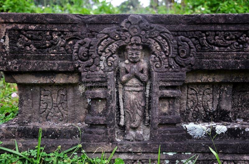Soulagement des temples hindous à mon fils, Vietnam photographie stock libre de droits