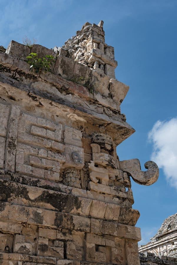Soulagements en pierre maya dans Chichen Itza, Yucatan, Mexique, photos libres de droits