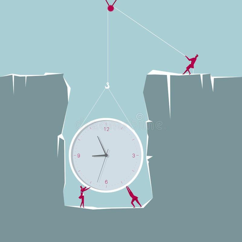 Soulevez et une horloge énorme du piège illustration de vecteur