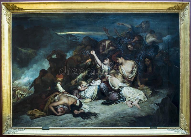 """Souliotes Les Femmes durch Ary Scheffer 1795†""""1858 Luftschlitz stockbild"""