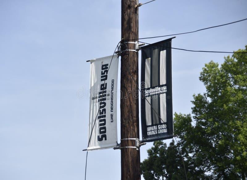 Soulsville U S a Segno della vicinanza, Memphis, TN immagini stock