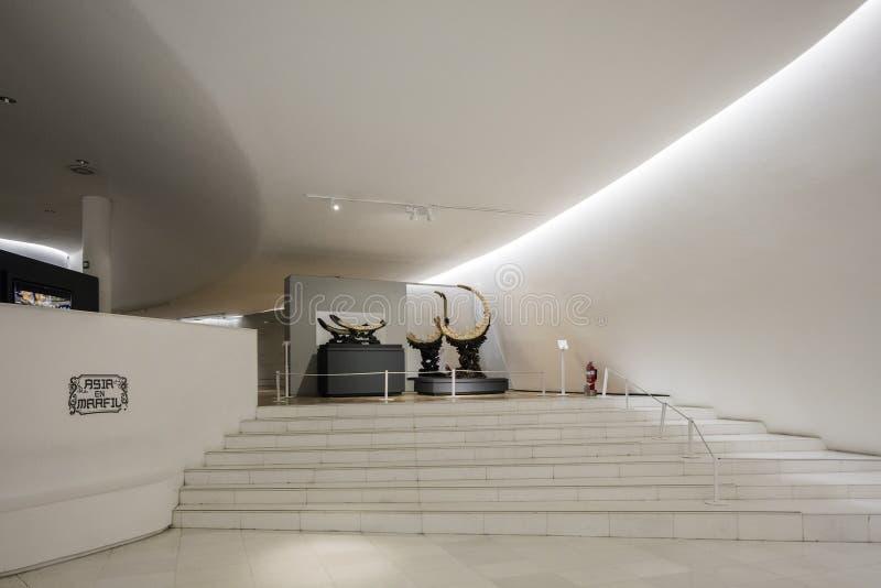 Soumaya博物馆Museo Soumaya内部  免版税库存照片