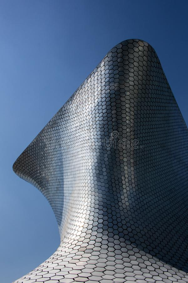Soumaya Museum ha basato su Città del Messico fotografia stock libera da diritti