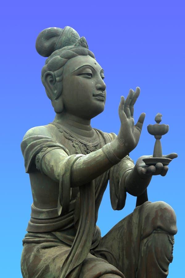 Soumissionnaire au Bouddha géant photos stock
