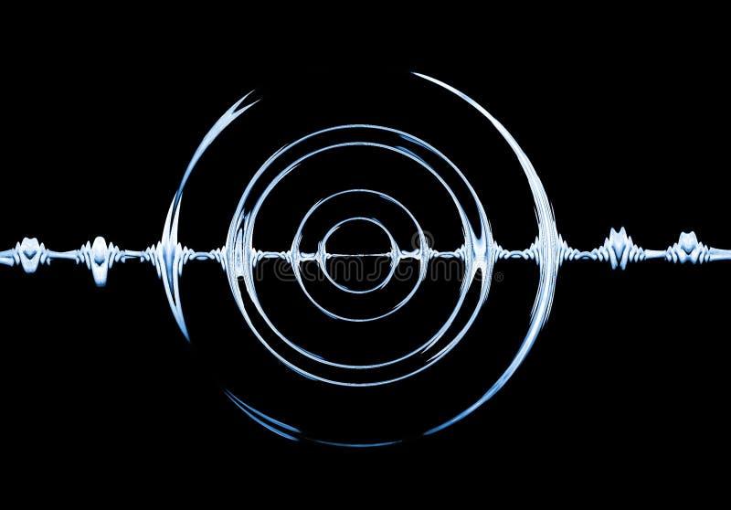 Sound. Effect on black background