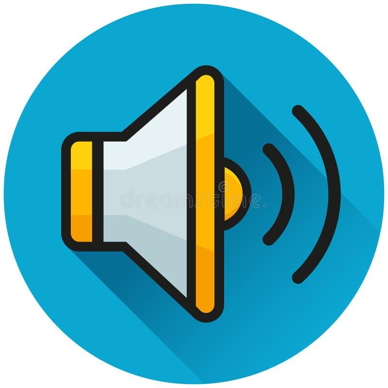 Sound circle blue icon concept. Illustration of sound circle blue icon concept vector illustration