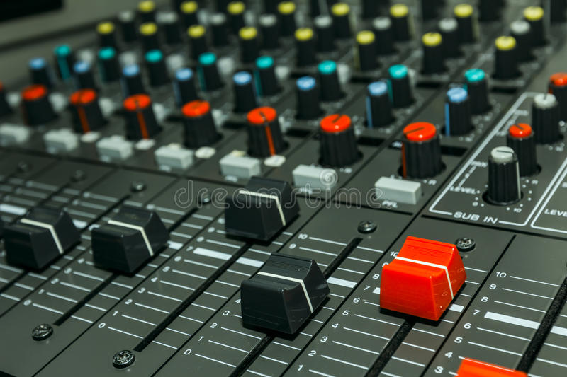 Download Sound Control Board Stock Image - Image: 26636251
