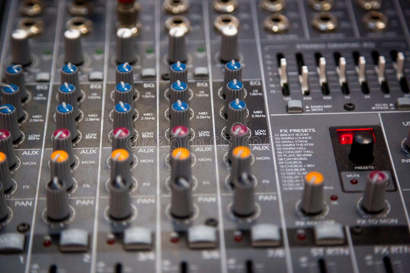 Sound control large royalty free stock photos